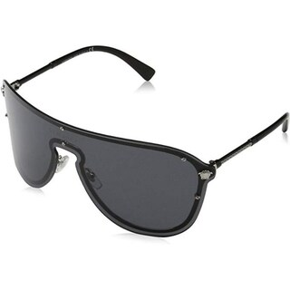 Link to Versace Women's VE2180 100087 44 Grey Plastic Aviator Sunglasses Similar Items in Wallets