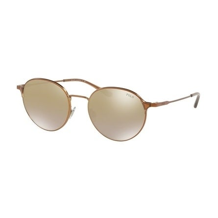 d5948157f4 Shop Polo Women s PH3109 91576E 53 Flash Brown Gold Mirror Metal Oval  Sunglasses - Free Shipping Today - Overstock.com - 17850886