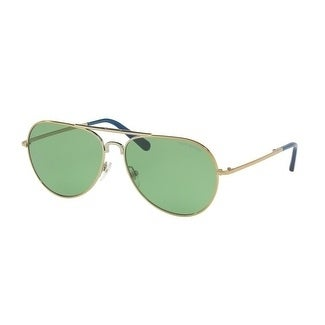 734fef791151 Shop Tory Burch TY6054 Womens Gold Frame Green Lens Aviator Sunglasses - Free  Shipping Today - Overstock - 17850888