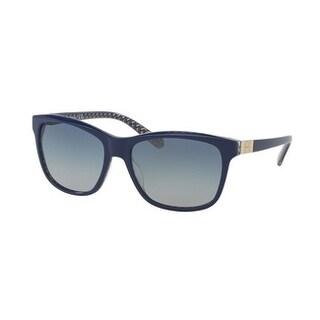 Tory Burch TY7031 Womens Blue Frame Blue Lens Square Sunglasses
