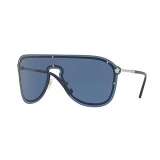 Versace Women's VE2180 100080 44 Blue Plastic Aviator Sunglasses