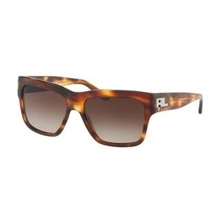 Ralph Lauren Women's RL8154 500713 56 Gradient Brown Metal Square Sunglasses