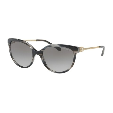 Michael Kors Women's MK2052 328911 55 Grey Gradient Metal Cat Eye Sunglasses