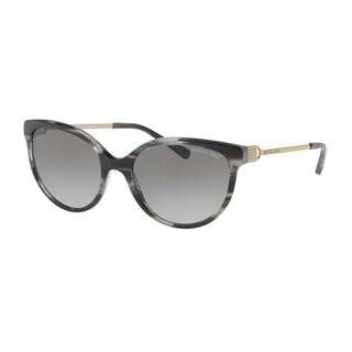 Michael Kors Women's MK2052 328911 55 Grey Gradient Metal Cat Eye Sunglasses