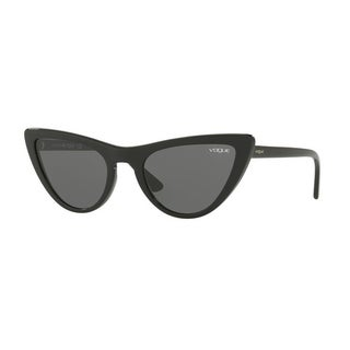 cfdff802e7 Shop Vogue Women s VO5211S W44 87 54 Gray Plastic Cat Eye Sunglasses - Grey  - Free Shipping Today - Overstock.com - 17850917