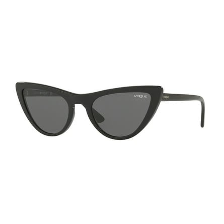 29a4e2be28 Shop Vogue Women s VO5211S W44 87 54 Gray Plastic Cat Eye Sunglasses ...