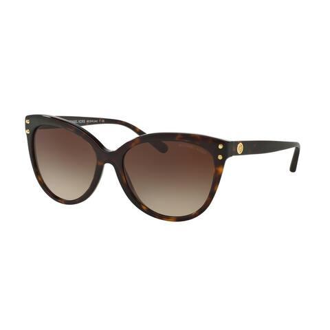 Michael Kors MK2045 300613 55 Dark Tortoise Acetate Woman Cat Eye Sunglasses