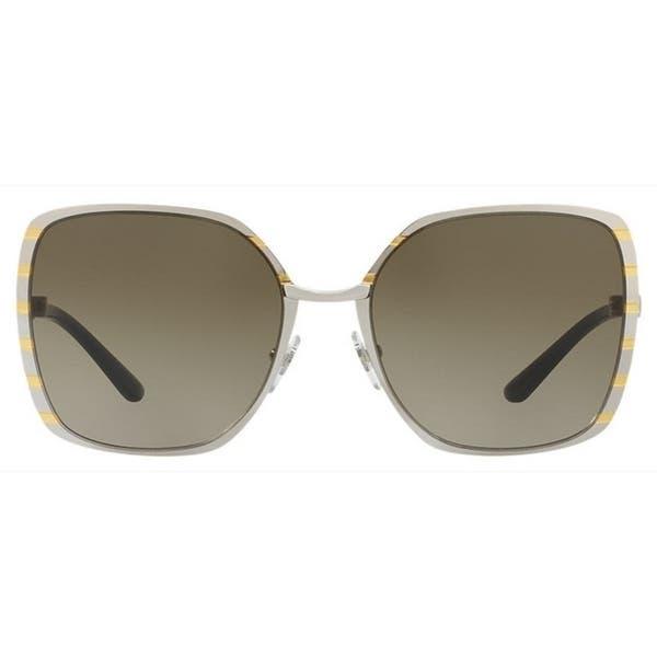 3e0d6182c954 Tory Burch TY6055 Womens Silver Frame Grey Lens Square Sunglasses
