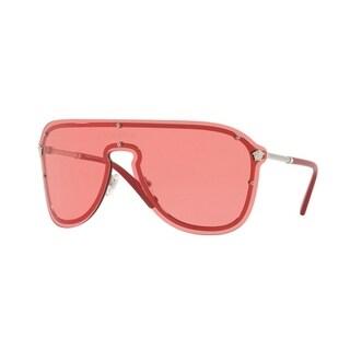 Versace Women's VE2180 100084 44 Pink Plastic Aviator Sunglasses