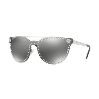 57809f9b0c37 Shop Versace Women's VE2177 10006G 45 Grey Mirror Silver Metal Cat Eye  Sunglasses - Free Shipping Today - Overstock - 17850936