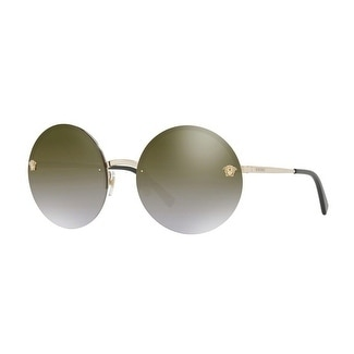 ca975a6bb6 Shop Versace Women s VE2176 12526U 59 Brown Grad Mirror Gold Metal Round  Sunglasses - Free Shipping Today - Overstock - 17850937