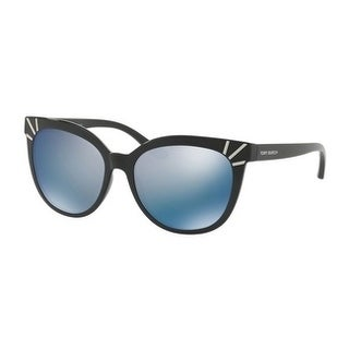 Tory Burch TY9051 Womens Black Frame Blue Lens cat eye Sunglasses