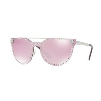 be9814d0d89c Shop Versace Women s VE2177 10007V 45 Pink Mirror White Metal Cat Eye  Sunglasses - Free Shipping Today - Overstock - 17850954
