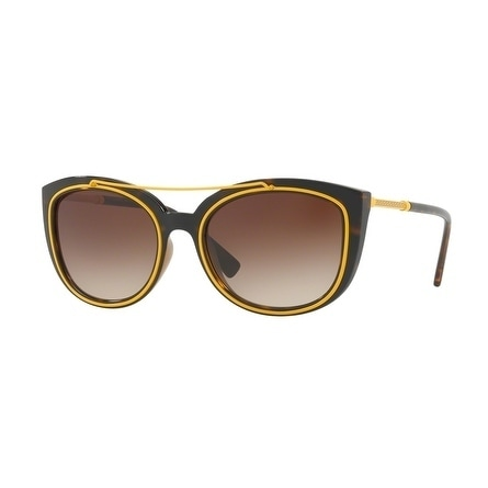 55a0cd36a6a Shop Versace Women s VE4336 108 13 56 Brown Gradient Plastic Cat Eye  Sunglasses - Free Shipping Today - Overstock.com - 17850971