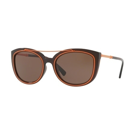 e1788657b31 Shop Versace Women s VE4336 509373 56 Brown Plastic Cat Eye Sunglasses -  Free Shipping Today - Overstock - 17850978