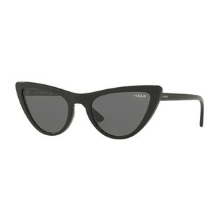 Vogue Women's VO5211Sf W44/87 54 Gray Plastic Cat Eye Sunglasses - Grey