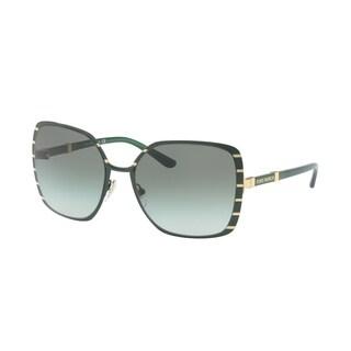 Tory Burch TY6055 Womens Green Frame Green Lens Square Sunglasses