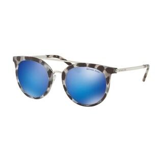 Michael Kors Women's MK2056 327525 50 Cobalt Mirror Metal Round Sunglasses - Blue