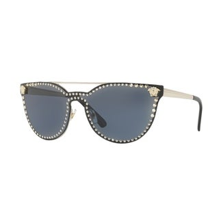 Versace Women's VE2177 125287 45 Grey Metal Cat Eye Sunglasses