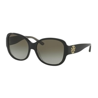 c5b558ce958e Shop Tory Burch TY7108 Womens Black Frame Green Lens Square Sunglasses - Free  Shipping Today - Overstock - 17851012
