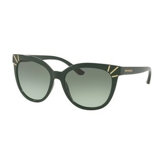 fe5fba2f08ee Shop Tory Burch TY9051 Womens Green Frame Green Lens cat eye Sunglasses -  Free Shipping Today - Overstock - 17851034