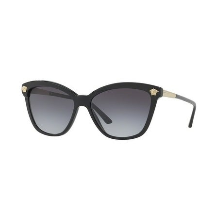 ef8d148049c2 Shop Versace Women s VE4313A Gb1 8G 57 Gray Gradient Plastic Rectangle  Sunglasses - Grey - Free Shipping Today - Overstock - 17851045