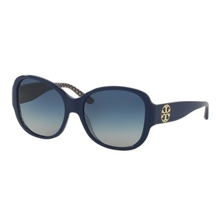 f53f6738d53a Shop Tory Burch TY7108 Womens Blue Frame Blue Lens Square Sunglasses - Free  Shipping Today - Overstock - 17851053
