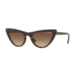 Vogue Women's VO5211S W65613 54 Brown Gradient Plastic Cat Eye Sunglasses