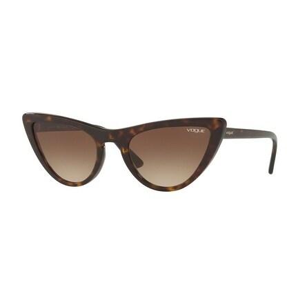 bcf7b61e32 Shop Vogue Women s VO5211S W65613 54 Brown Gradient Plastic Cat Eye  Sunglasses - Free Shipping Today - Overstock.com - 17851080