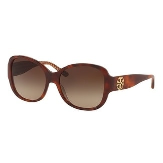 bf2744a19d0b Shop Tory Burch TY7108 Womens Tortoise Frame Brown Lens Square Sunglasses -  Free Shipping Today - Overstock - 17851083