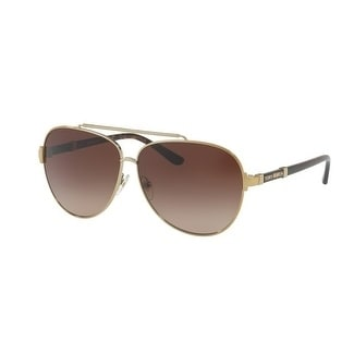 37a82a428c Shop Tory Burch TY6056 Womens Gold Frame Brown Lens Aviator Sunglasses -  Free Shipping Today - Overstock - 17851087