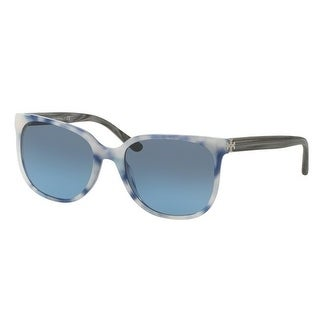 ec54cbba810c Shop Tory Burch TY7106 Womens Blue Frame Blue Lens Square Sunglasses -  Multi - Free Shipping Today - Overstock - 17851091