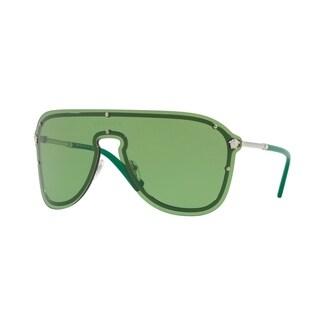 Versace Women's VE2180 1000/2 44 Green Plastic Aviator Sunglasses