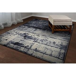 Couristan Easton Abstract Mosaic/Slate Runner Rug (2'7 x 7'10)