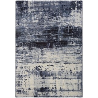 Couristan Easton Abstract Slate Blue Area Rug (See menu for size options)