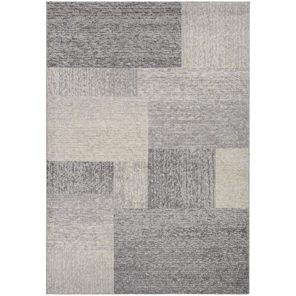 Couristan Spectrum Neutral Blocks/Ivory-Grey Area Rug - 2' x 3'7