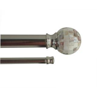 Celina adjustable double curtain rod with decorative finial