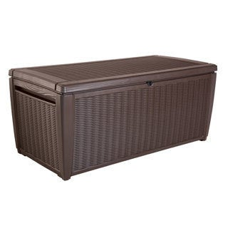 Keter Sumatra 135 Gallon Outdoor Storage Rattan Deck Box