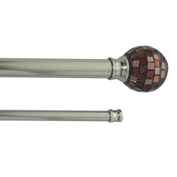 Heath adjustable double curtain rod with decorative finial