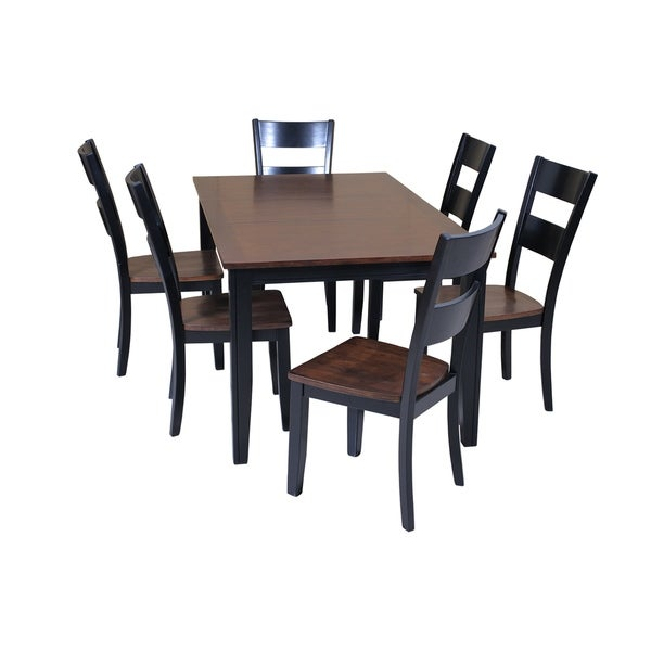 7 Piece Solid Wood Dining Set Aden Modern Kitchen Table