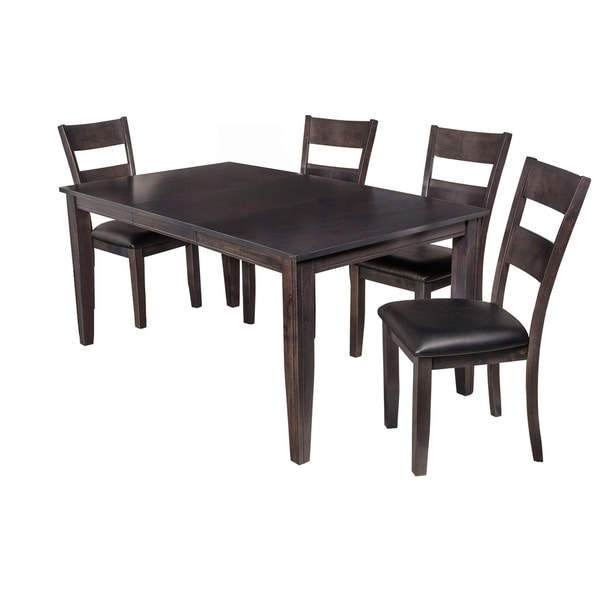 Shop 5 Piece Solid Wood Dining Set Aden Modern Kitchen Table Set