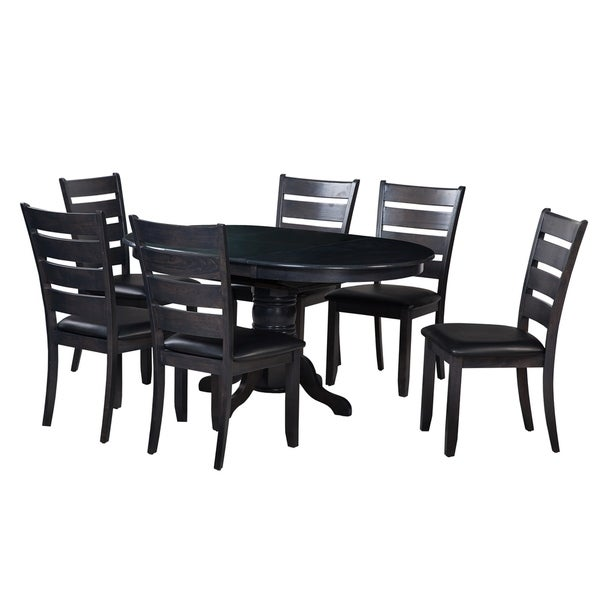 "Modern Dining Table Sets On Sale: Shop 7-Piece Solid Wood Dining Set ""Valleyview"", Modern"