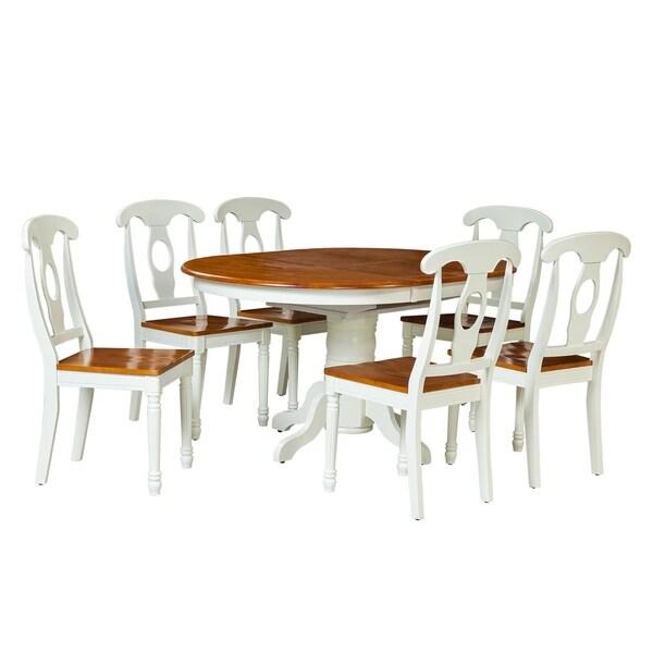 "Monarch White Oak 7 Piece Dining Set: Shop 7-Piece Solid Wood Dining Set ""Valleyview"", Modern"