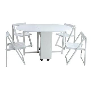 Saviour Dining Set In White (Set of 5)