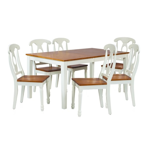 "Solid Wood Kitchen Table Sets: Shop 7-Piece Solid Wood Dining Set ""Boswell"", Modern"