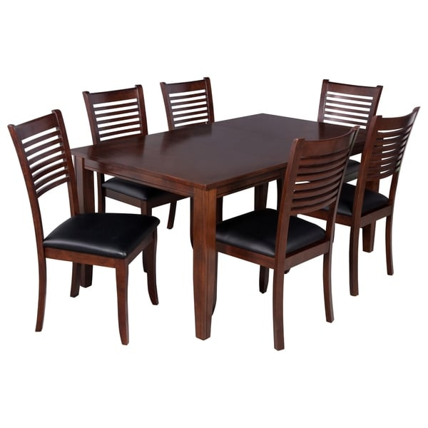 "Solid Wood Kitchen Table Sets: Shop 7-Piece Solid Wood Dining Set ""Aden"", Modern Kitchen"
