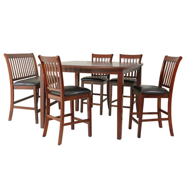 """Free Kitchen Solid Oak Dining Room Sets Renovation With: Shop 6-Piece Solid Wood Counter Height Dining Set """"Gadsby"""