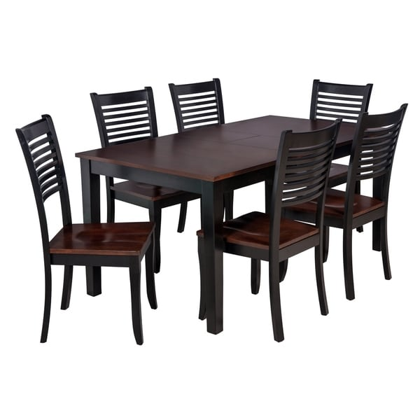 Shop 7-Piece Solid Wood Dining Set \