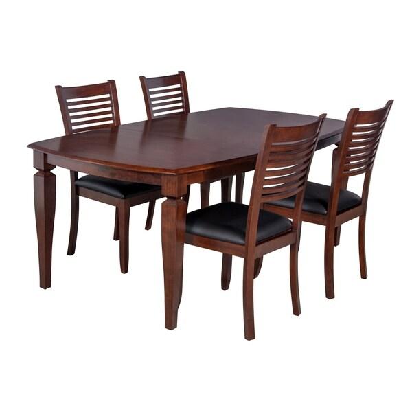 "shop 5piece solid wood dining set ""victoria"" modern"