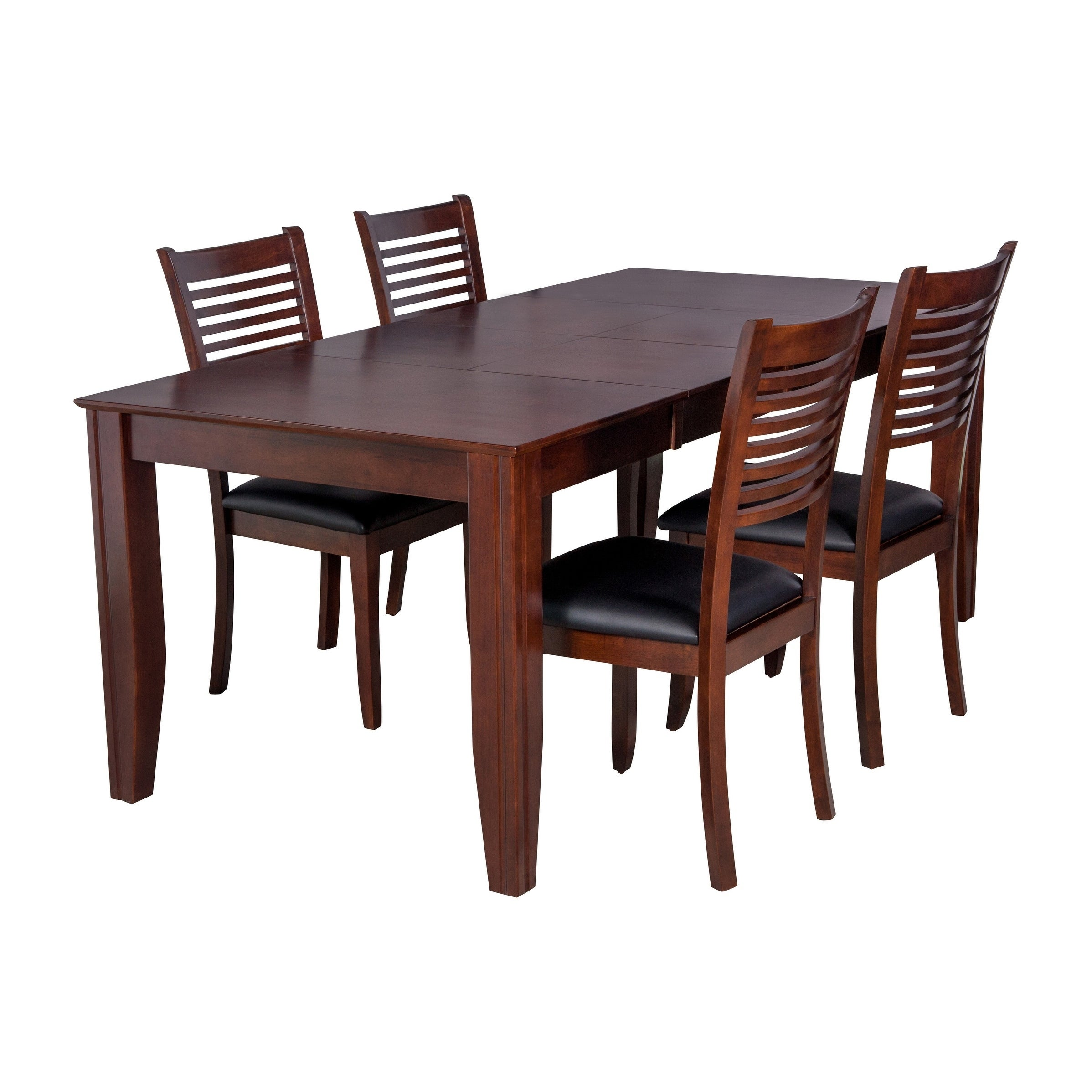 5 Piece Solid Wood Dining Set Charlotte Modern Kitchen Table Set Espresso Overstock 17853619